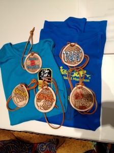 Big Sur Marathon Medals
